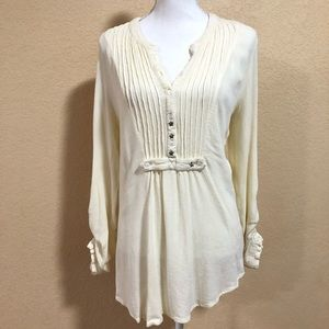 Free People | Small Ivory Tunic Star Buttons